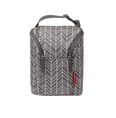 Brand new bag Skip Hop grab and go double bottle insulated bag in grey feather