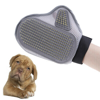 Pet bath brush dog cat massage grooming hair cleaning glove comb double side MC