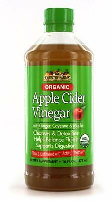 Country Farms Apple Cider Vinegar Tonic with MOTHER 16 ounces each