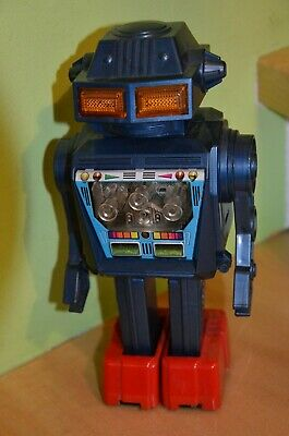 Altes Space Toy, blauer Roboter / robot, (Nr.1) Made in Japan, 60/70er Jahre