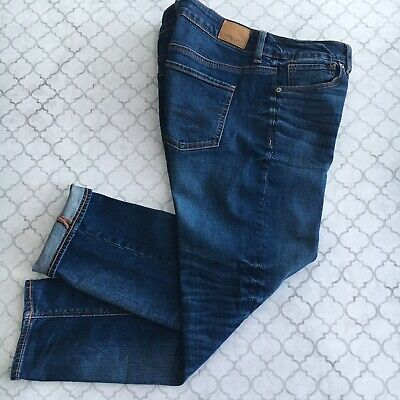 e2b9677ffbe American Eagle Womens TomGirl Jeans Size 4 Short Button Fly Blue Denim  Stretch