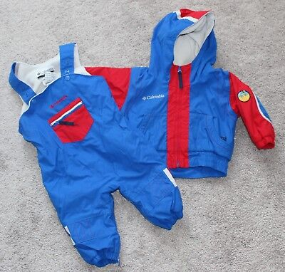 61c200198 COLUMBIA EXPOSED ICE Boys Toddler Snow Waterproof Bibs Jacket Set ...