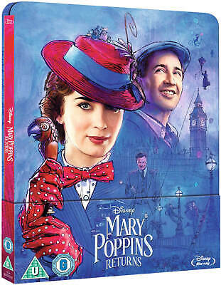 Mary Poppins Returns Steelbook / Pre-Order / Blu Ray /WORLDWIDE SHIPPING