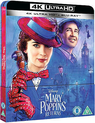 Mary Poppins Returns 4K UHD Steelbook + Blu Ray / Pre-Order/WORLDWIDE SHIPPING