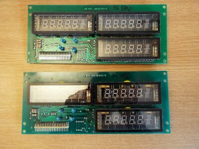6 x VFD display, vacuum fluorescent 7 segment,  on boards CS 491.GB M.791-6