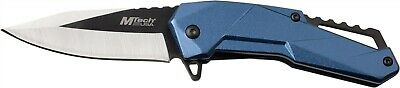 Mtech MT-A1136BL Blue Aluminum Assisted Straight Two Tone Folding Pocket Knife