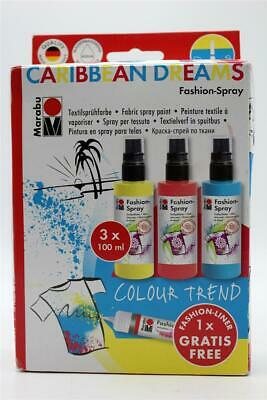 Marabu Fashion Spray SET Caribean Dreams 3 x 100 ml