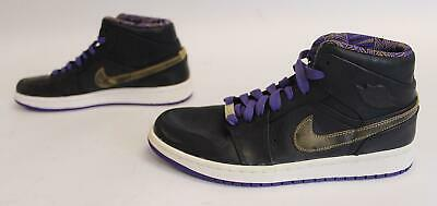 watch 037d4 d2eb3 Nike Men s Air Jordan 1 Mid Noveau BHM Shoes HD3 Black Gold 629151-009