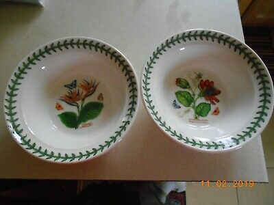 Portmeirion Exotic Botanic Garden Pair Of Oatmeal / Cereal Bowls - Set 2