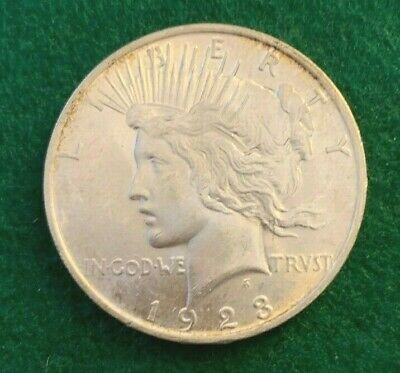 1923 Uncirculated Peace Silver Dollar --  BU -- Luster