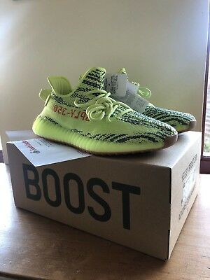 02d985a58 ADIDAS YEEZY BOOST 350 V2 Semi Frozen Yellow B37572 Size   UK 8   US ...