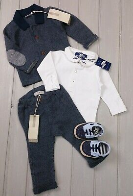BNWT Baby Boys Babygrow Smart Outfit Special Occasion Christening 6-9//9-12//12-18