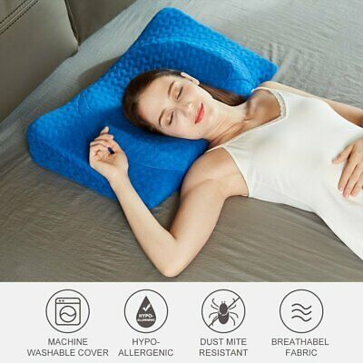 Hypoallergenic Memory Foam Pillow w/ Cover Ergonomic Neck & Shoulder Pain Relief