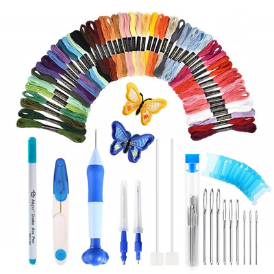 [Latest Model] Magic Embroidery Pen Set,Embroidery Pen Punch Needle Kit Craft 50