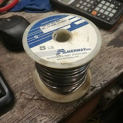 4.5 Lbs High lead Solder Sn97.5% 0.125 Dis