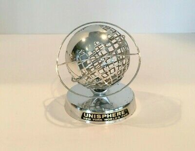1964 NEW YORK WORLD'S FAIR UNISPHERE CHROME  SOUVENIR BUILDING TOPPING US steel