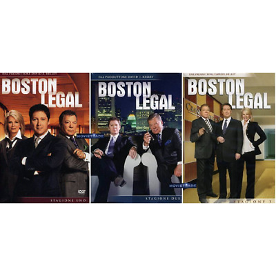 STV *** BOSTON LEGAL - Serie Completa - Stagione 1-2-3 (19 Dvd) *** sigillato