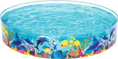 Childrens Sea Life Fill 'n' Fun Rigid 8ft Swimming Paddling Garden Pool 55031