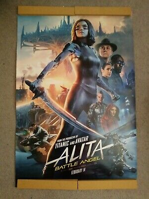 ALITA: BATTLE ANGEL great original 27x40 D/S movie poster LOW INVENTORY (th49)