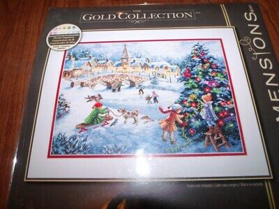 "Dimensions Gold Collection Winter Retreat Counted Cross Stitch Kit-16/""X12/"" 18 Co"