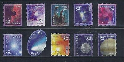 Japan 2018 Astronomy Heavenly Bodies Complete Used Set 82Y Sc# 4186 a-j
