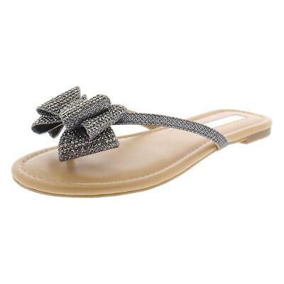 b416a438 TOMMY HILFIGER WOMENS Contina Thong Sequined Slip On Flip-Flops ...