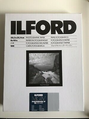 Ilford 10x8 Multigrade Resin Coated Paper - Pearl - 100 Sheets