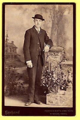 Victorian Cabinet Photo - Gentleman wearing Hat - Gerhard - Keokuk, Iowa