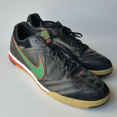 b7ce1212f Nike 5 Men s Gato 415123-030 Indoor Soccer Shoes Black Green  Red Swoosh