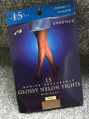 """510b95117b7af PLUS Size 15 Denier Glossy Nylon Tights With Lycra - Fit Up To Hips 52"""""""