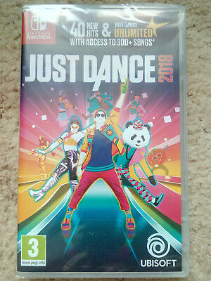 Just Dance 2018 Nintendo Switch - Brand New and Sealed