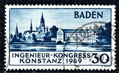 Germany - 1949 Baden  Engineers' Confrence - Used Nh - Cv £110 👇