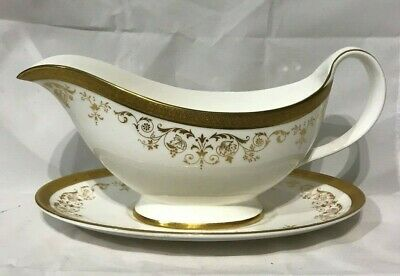 Royal Doulton Belmont Gravy Boat & Stand H4991 Made in England