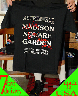 1bb0db47d688 Travis Scott Astroworld Tour MSG Merch NYC Exclusive Black TAXI usa size  S-2XL