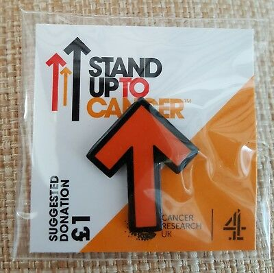 """Brand New & Sealed""""STAND UP TO CANCER CHARITY"""" Plain Pin Badge (Same Day Post !)"""