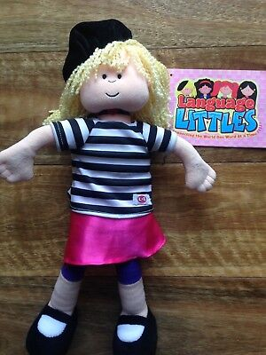 Language Littles doll toy speaks French & English booklet multi language