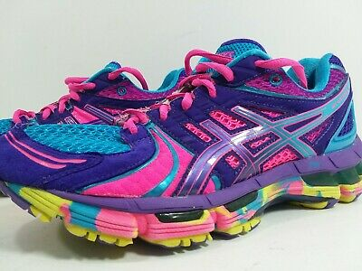 560ef5abc Asics Gel Kayano 18 Multicolor Womens Running Shoes Size 7 Rare Rainbow  Colors