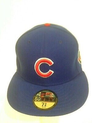 4d2dfd35c CHICAGO CUBS NEW Era 59Fifty 100 year Wrigley Field 2016 Patch Fitted Hat 7  3/8