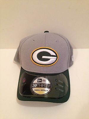 6d14117fd118fb Green Bay Packers New ERA 39Thirty 2015 Training Camp Stretch fit hat S/M  Gray
