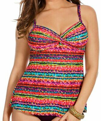 e0b2be909816d NEW MIRACLESUIT SWIMSUIT Size 12 TANKINI Top Night Lights Roswell ...