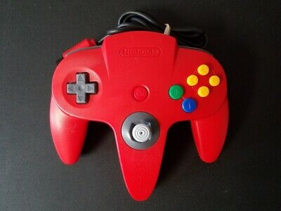 Original OEM Nintendo 64 N64 RED Controller Clean Tested Tight Stick