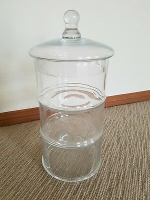 4 piece sectioned glass jar