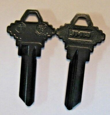 2 Black Blank House Keys For Schlage Locks Sc1 Can Be Punched To Your Code