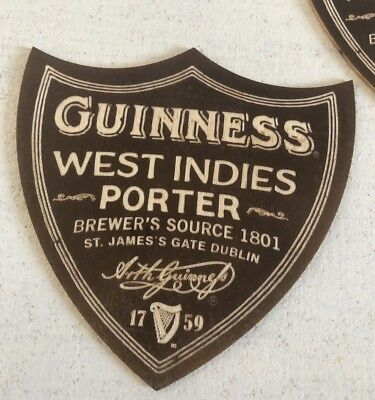 Rare Lot Of 5 Offical Guinness Wooden Coasters / Mats / West Indies Porter !