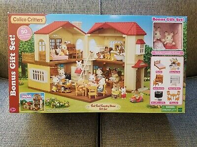 a0341eaca9d9 CALICO CRITTERS Red Roof Country Home Gift Set - New Factory Sealed (other)