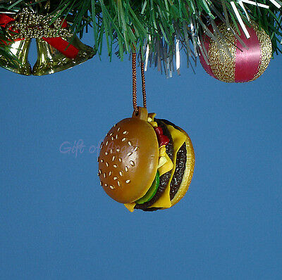 Decoration Home Party Ornament Christmas McDonald's Quarter Pounder Burger *M3