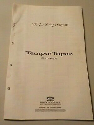 1993 ford tempo mercury topaz electrical schematic wiring diagram manual