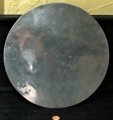 """18th Century Antique English Pewter Scale or Cake Plate, LONDON Mark, 11"""" Dia."""