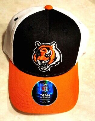 4550ba2b CINCINNATI BENGALS YOUTH Hat Embroidered Logo Team Headwear Cap Adjustable  New