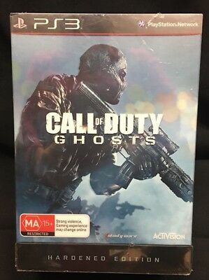 PS3 PlayStation 3 Game Call of Duty Ghosts Hardened Edition New Sealed Collector